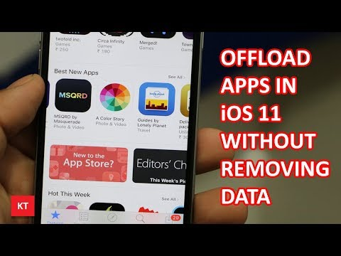 Offload unused apps in iPhone without removing the data