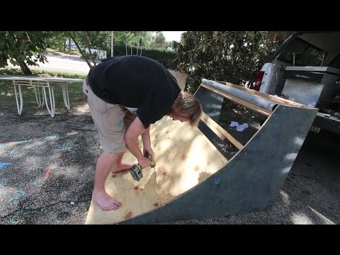 Building Quarterpipe On The Cheap!!!