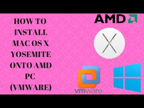 How to install Mac OS X Yosemite onto an AMD Virtual Machine (VMware)