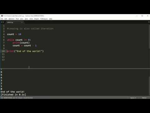 Python Programming Series (Loops 1): The while loop