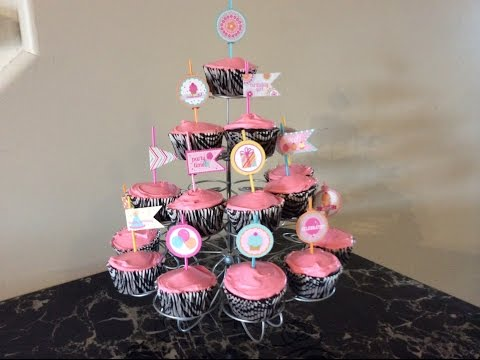 Doodlebug Pixie Stick Cupcakes For My Birthday ~ Sugar Shoppe Collection