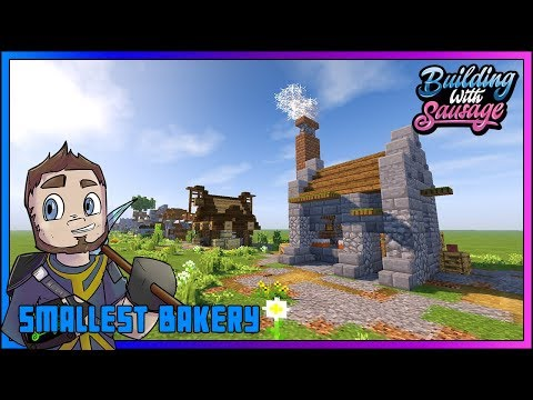 Minecraft - Building with Sausage - SMALLEST BAKERY! [Vanilla Tutorial 1.12]