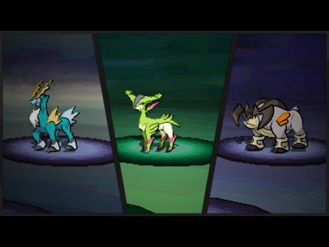 Pokémon Black & White - Capturing The Unova Trio Pokémon!  - Cobalion, Virizion & Terakion [HD]