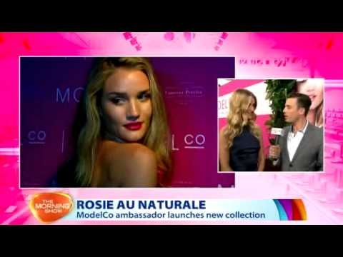 Rosie Huntington-Whiteley for ModelCo | The Morning Show Live Cross