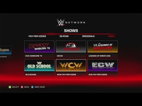 A Look at the Updated WWE Network App on the Xbox 360