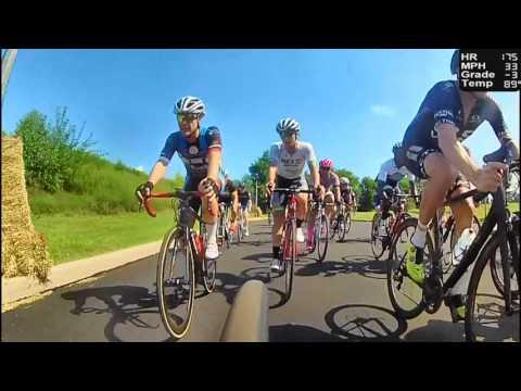 HD 2016 Road Bicycle Racing - 50 Minute Criterium Racing (Trainer/Rollers)