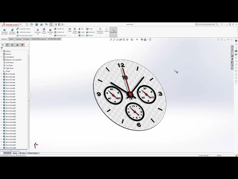 SOLIDWORKS TUTORIAL Making a watch face (part 4)