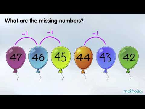 Number Patterns - What are the Missing Numbers?