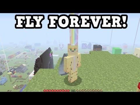 Minecraft Xbox One / PS4  Elytra - How To Fly INFINITELY  (TU46)