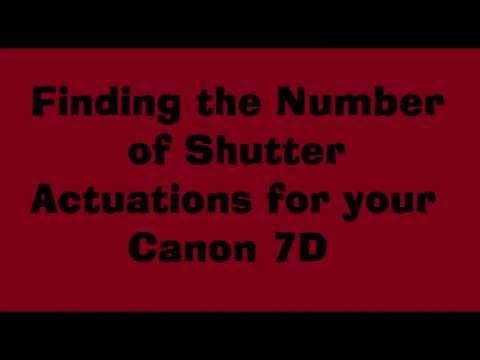 Canon 7d Shutter Count