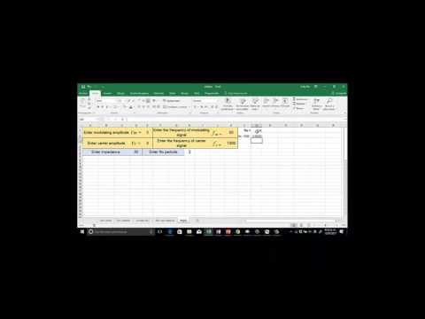 Drawing AM signals using Excel   Part 1