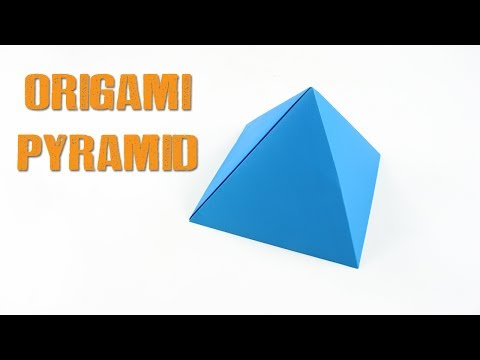 DIY Origami Pyramid | Easy Seamless Pyramid | How to make Paper Pyramid | Paper Craft Easy Tutorial