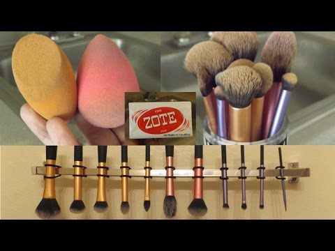 How I Wash & Dry My Makeup Sponge and Brushes!