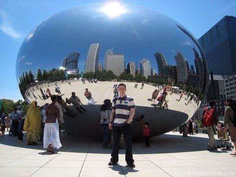 Millennium Park and Cloud Gate in Chicago, Illinois