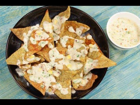 Spicy Nachos With White Sauce In Gujarati | Snacky Ideas by Amisha Doshi | Sanjeev Kapoor Khazana