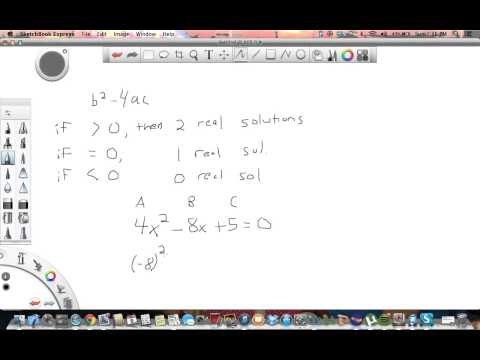 Using discriminant to find real solutions