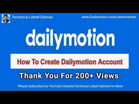How To Create Dailymotion Account And Upload Your First Video In Urdu