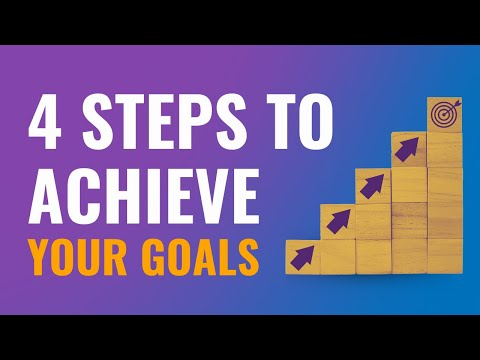 The easy 4-step process to achieving any goal!