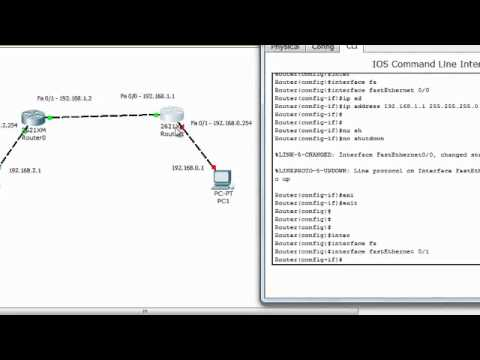 Connect 2 Routers Step-by-Step (Static Routing)