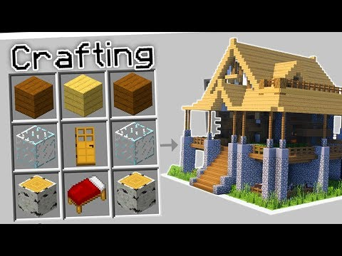 CRAFTING A HOUSE IN MINECRAFT?!