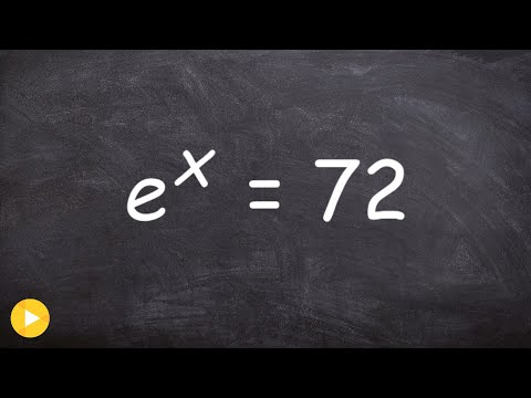 Learn how to solve an exponential equation by taking natural log on both sides