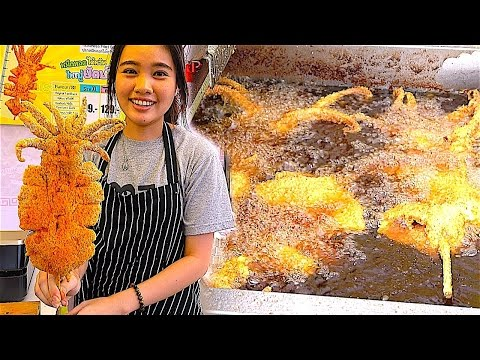 Crispy Salt&Pepper Whole Squid and Chicken breast - Cheese, Seafood, | Taiwan Street Food