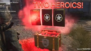 TWO HEROICS! (CALL OF DUTY WWII SUPPLY DROP OPENING)