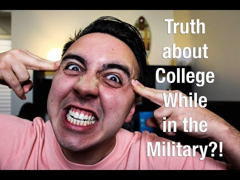 Truth about college while in the Military | NickyMGTV
