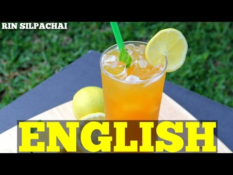 How to make Starbucks Mango Black Tea Lemonade ชามะนาวกลิ่นมะม่วง (English audio)