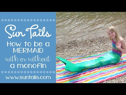 How to be a mermaid with or without a monofin