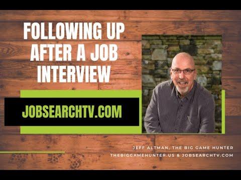 Following Up After a Job Interview (VIDEO)