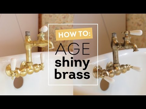 How to Age Shiny Brass Instantly! / Cottage House Flip Episode 5