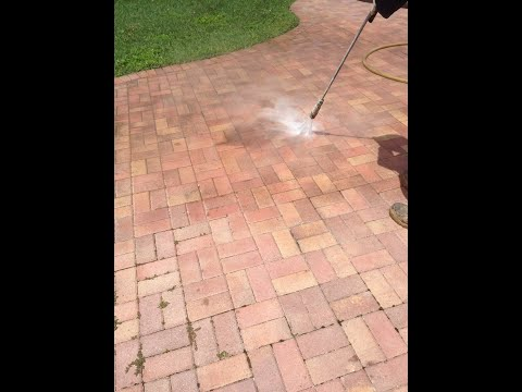Stripping Sealer from Brick Pavers, Stripping Paint from Cement
