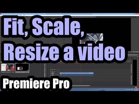 How to Fit/Scale/Resize a video in Adobe Premiere CC 2014