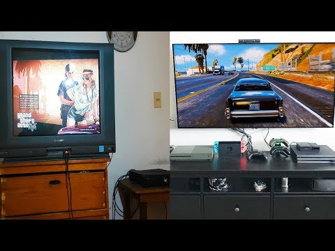 GTA 5 2013 PS3 con TV Vieja VS GTA 5 2018 PS4 PRO con TV Nueva