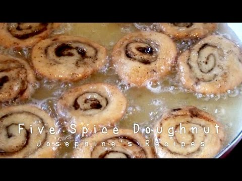 Chinese Five Spice Doughnut 鹹煎餅 Homemade Cinnamon Rolls - JosephineRecipes.co.uk