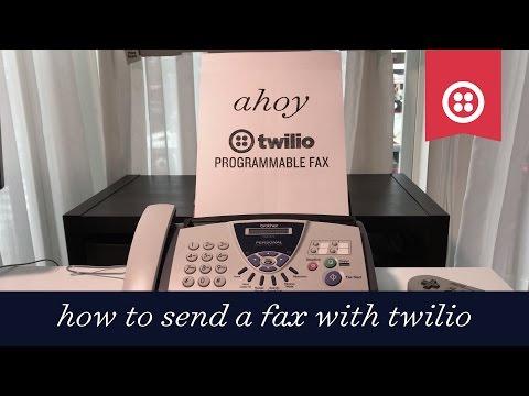 How to Send a Fax Using Twilio