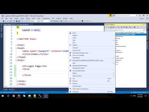 Login Form with BCrypt Password in ASP.NET Core MVC and Entity Framework