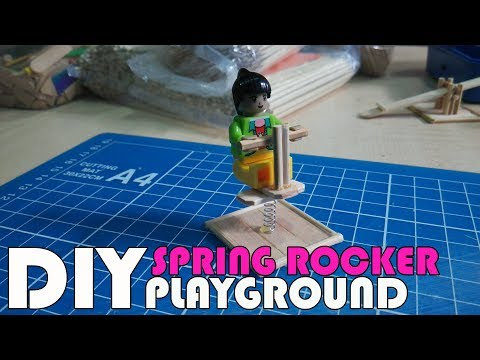 How to: Simple Miniature SPRING ROCKER Tutorial // DIY Miniature Playground- LEGO size