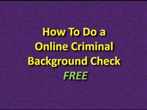 Check Criminal Backgrounds for FREE Online - Free Criminal Background Checks