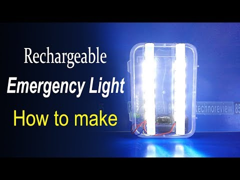 Rechargeable LED Emergency Light | How to make
