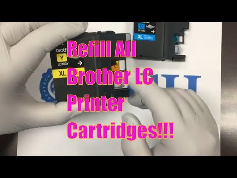 3 Ways to Refill OEM Brother LC101 LC103 LC105 LC107 LC109 Cartridges