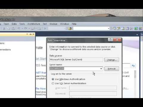 How to Connect Microsoft Visual studio 2010 with   to SQL server 2008     YouTube