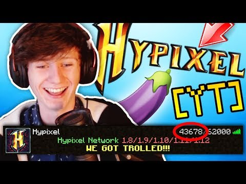 MINECRAFT TROLLING THE WHOLE HYPIXEL SERVER!!