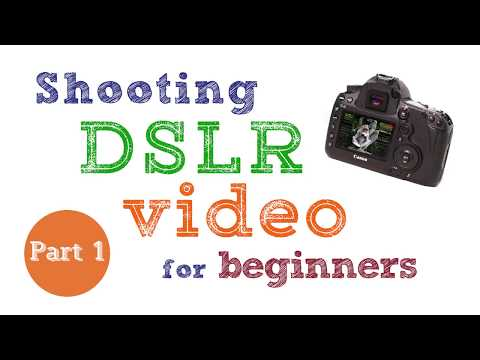 Shooting DSLR video for beginners – Part 1: settings and exposure