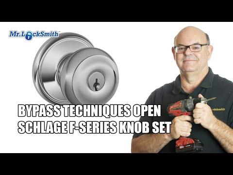 Bypass Techniques Open Schlage F-Series Knob Set | Mr. Locksmith Training Video