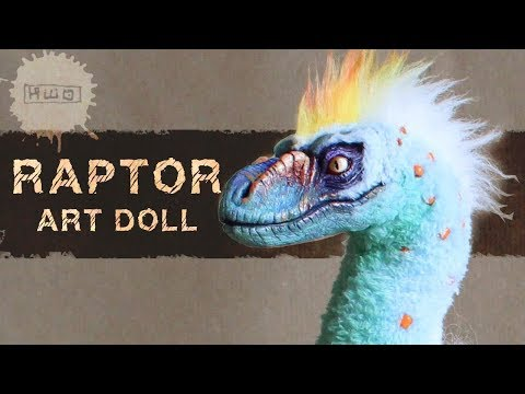 RAPTOR poseable art doll - by hikigane -