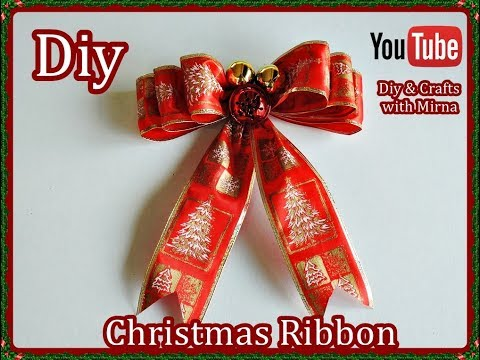 Diy  How to Make a Christmas Ribbon Diy & Crafts with Mirna