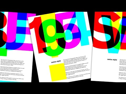 Photoshop Tutorial: How to Design & Create a Vintage, Swiss-style, International Typographic Poster