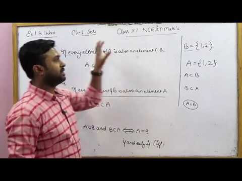 Subsets | CBSE 11 Math's NCERT Ex 1.3 Intro (Part 1)